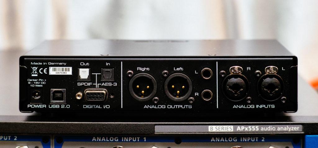 RME ADI-2 Pro fs Rear